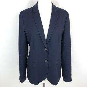 J. Crew Women's Navy Blue Cotton 2- Button Blazer